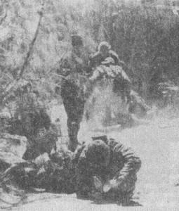 Рис.8 Действия штурмовой группы в зоне поражения