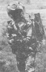 Рис. 3. Военнослужащий в шлеме с системой комплексной защиты