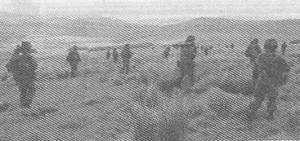 Рис. 1. Пехотная рота на марше