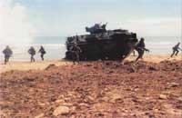 Отработка элементов морской десантной операции подразделениями морской пехоты США и Брунея