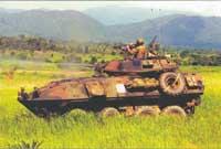 БМП 4-го разведывательного батальона МП США во время отработки боевой задачи совместно с подразделением МП Таиланда