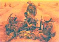 """Патруль американской морской пехоты несет потери в результате """"дружественного"""" огня"""